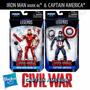 Capitan America Civil War Combo X2 Iron Man Mark 46 & Cap!