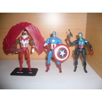 Lote Marvel Universe Capiatan America Falcon(rosario)