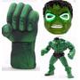 Combo De Hulk - Puño Gigante + Muñeco + Mascara Con Luz