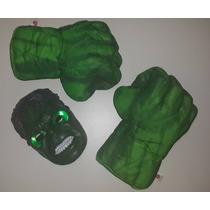 Promo: Puños Hulk + Máscara Luz Led Guantes Manos Gigantes