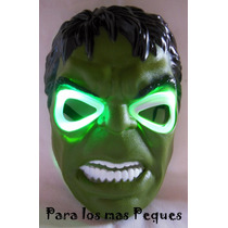 Máscara Iron Man Spiderman Rojo Y Negro Hulk Con Luz A Led