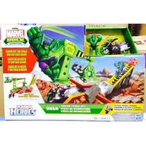 Pista The Avengers Hulk / Moto. Playset Demolición. Stock!!!