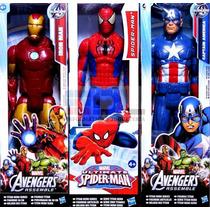 Avengers Muñecos X3 Gigantes 30cm Original Hasbro Articulado