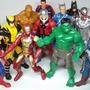 Avengers X 6 Ultron Hulk Capitan Iron Spider Heroes En Caja.