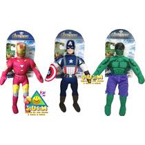 Muñecos Tela Grandes Avengers,vengadores Orig. Marvel Jiujim