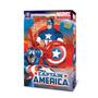Muñeco Capitan America Semi Articulado Grande Marvel Origina