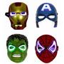 Máscaras Avengers X 4: Cap. America Hulk Iron Man Spiderman