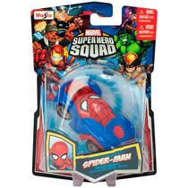 Auto Spiderman Marvel Super Hero Squad Metal Maisto Original