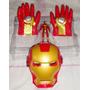 Guantes Iron Man Pvc + Mascara Led Solo 3 Unid.¡¡¡¡liquido¡¡