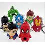 Llavero Super Heroe Capitan America Superman Hulk Araña Etc