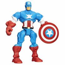 Muñeco Super Hero Mashers Capitan America Hasbro Mundomanias