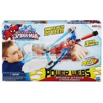 Spiderman Power Webs Lanza Dardos Original Hasbro Nerf Video