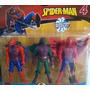 Muñecos De Spiderman - Hombre Araña - Blister 3 Personajes