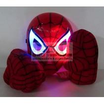 Puños Hombre Araña Original+ Máscara Led Brilla En Oscuridad