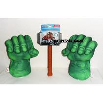 Martillo De Thor + Puños Hulk Guantes Par