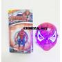 Muñeco De Spiderman Hombre Araña + Mascara Con Luces