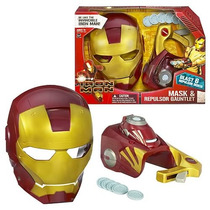 Iron Man 3 Mascara + Lanzador 100 % Original Hasbro