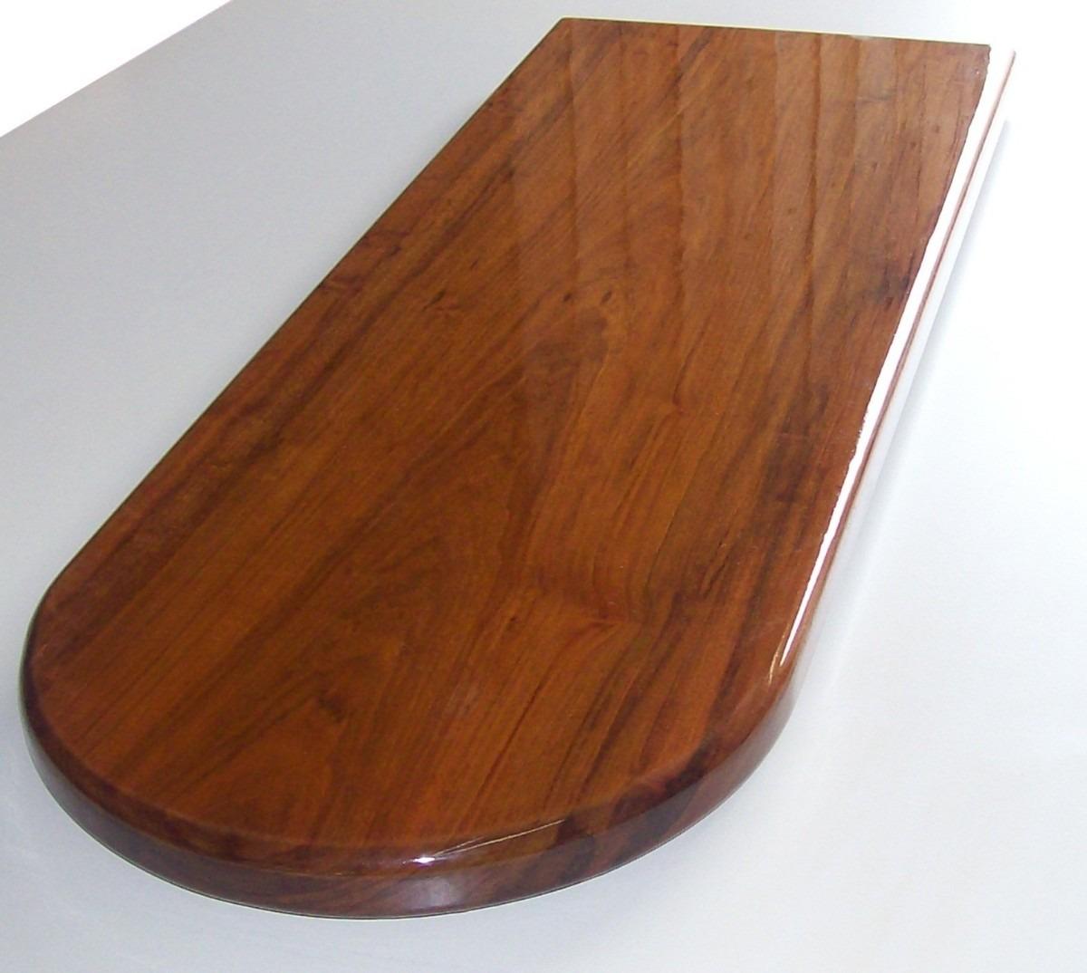 Tabla mesada desayunador escalera en madera lapacho for Fabricacion de bares de madera