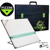 Tablero 50x60 + Paralela + Atril 6 Posicio + Maletin Pizzini