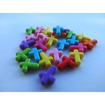 200 Cruces De Colores Plasticas Para Confeccionar Accesorios