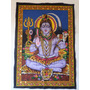 Tapiz Hindu De Shiva 74 Cm Alto Por 54 Cm Ancho
