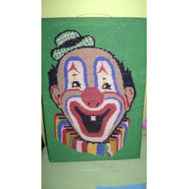 Tapíz Payaso, Ideal Cuarto Infantil; Hecho A Mano