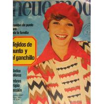 Revista De Punto Y Ganchillo Con Moldes, Importada