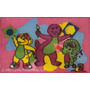 Alfombras Infantiles Barney 0,47 X 0,67cm Oferta!!
