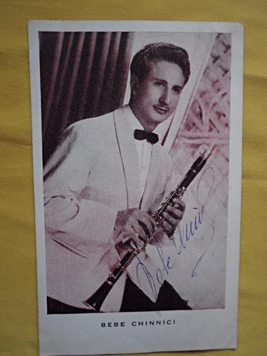 Tarjeta Autografo / Jazz Argentino / Bebe Chinnici