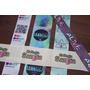 100 Etiquetas 4 Cm Logo Marca P/ Indumentaria Full Color!!!