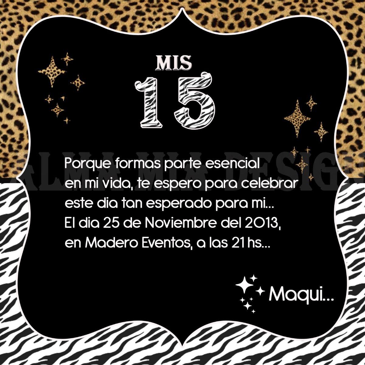Tarjetas Invitacion 15 Años Modernas! - $ 9,00 en MercadoLibre