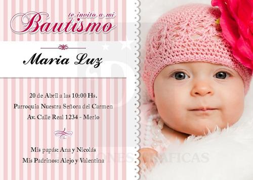Tarjetas Invitaciones Para Bautismo O Primer Añito - $ 130,00 en ...