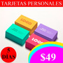 Tarjetas Personales Full Color X 90 $49