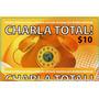 10 Tarjetas Telefónicas Charla Total $10 -hoy La Golosineria