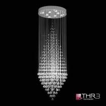 Thr3 Iluminacion Colgante Cristal 8 Luces Apto Lampara Led