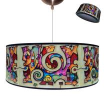 Lámpara Colgante De Techo Pantalla Iluminación Con 2 Luces!!