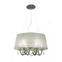 Lámpara Colgante De 6 Luces Musa Con Caireles - Envío Gratis
