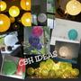 Lámparas De Hilo Velador O De Mesa 20cm Diam =31cm Med Circ