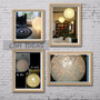 Lámpara De Hilo P/ Techo O Piso 45cm Diam =70cm Med Circuf
