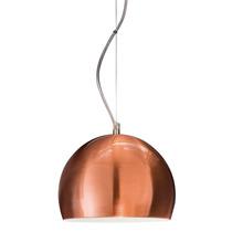 Lampara Colgante Iluminacion Moderna Cobre 1 Luz 23 Cm Deco