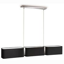 Philips Clement Negro Lampara Colgante 3 Luces Bajo Consumo