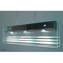 Colgante 3 Luces Led Incorporados Vidrio/ Acero Luz Desing