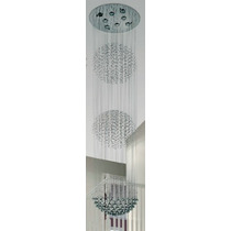 Lámpara Colgante Esfera Triple De 8 Luces - Magnalum