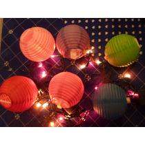 Lampara Pantalla Globo Papel Esfera 8 Cm
