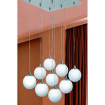 Thr3 Iluminación Colgante Globo 9 Luces Altura Regulable!