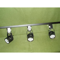 Riel Con 3 Dicroicas- 220v- Super Precio-no Necesita Trafo