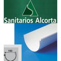 Canaleta Pvc Nicoll De 3mts Pluvial Plastica.