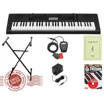 Combo Teclado Casio Ctk 3200 +pedal+método+ Soporte + Fuente