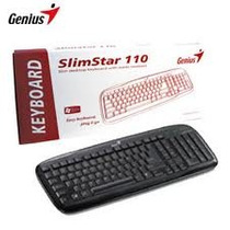 Teclado Genius Slimstar 110 Usb Teclas Fina Resistente Agua