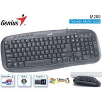 Teclado Usb Genius Kb-m200 Multimedia Version Español ( Ñ )